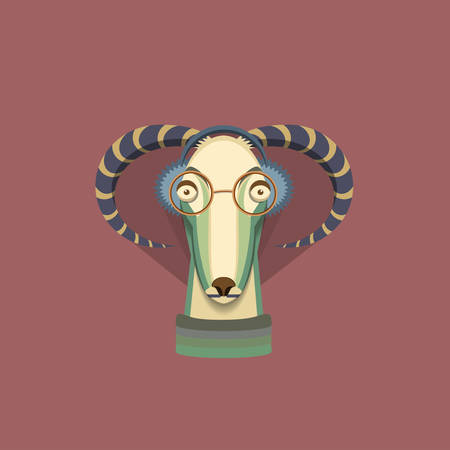 Vector illustration of goat, symbol of 2015. Element for New Years design