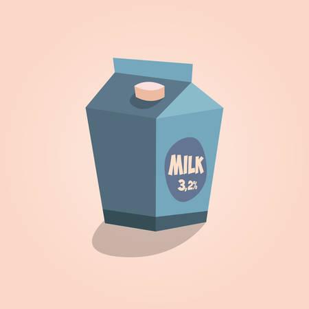 pinta: Detailed Icon. Carton of milk