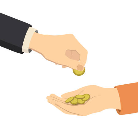 annular: hands giving and receiving money