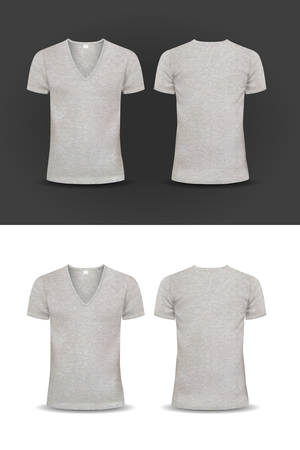 v neck: Vector T-shirt, Design template, women and men