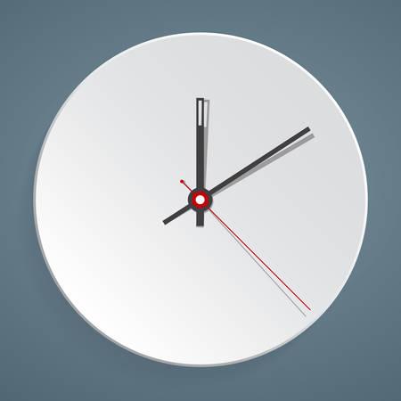Cara de reloj. Vector. Configure su tiempo.