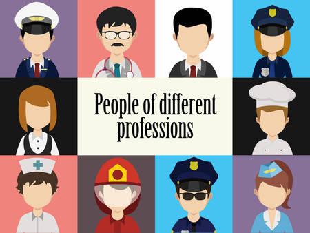 policia caricatura: Gente avatar macho y hembra humana enfrenta sociales iconos de la red, vector, ilustraci�n, caras de colores, fijados en estilo plano de moda, iconos Vectores