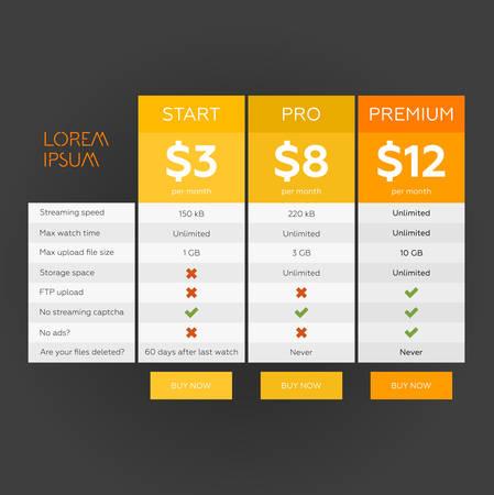 Tablet met prijsstelling lijst vector Stock Illustratie
