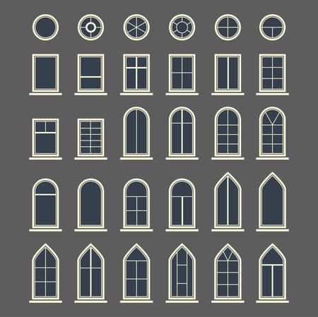 Different types of windows.  Illusztráció