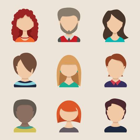 arab people: People icons, peolple avatars, flat style