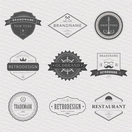 street cafe: Brand and icon design, old tavern badge Illustration