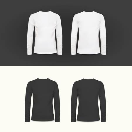 camisas: Vector camiseta, camisa de polo y sudadera plantilla de diseño, ilustración vectorial para su diseño Vectores