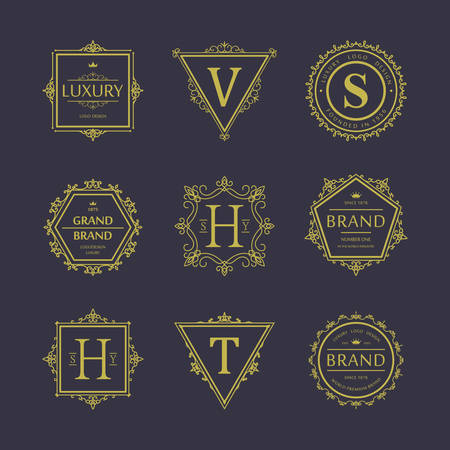 Set of badges. Old school. Vintage banners, vector illustration for your design, eps 10
