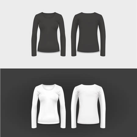 activewear: Vector t-shirt, polo shirt and sweatshirt design template, vector illustration for your design, eps 10