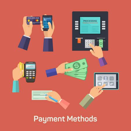 Possibilités de vecteur de méthodes de paiement Banque d'images - 42151416