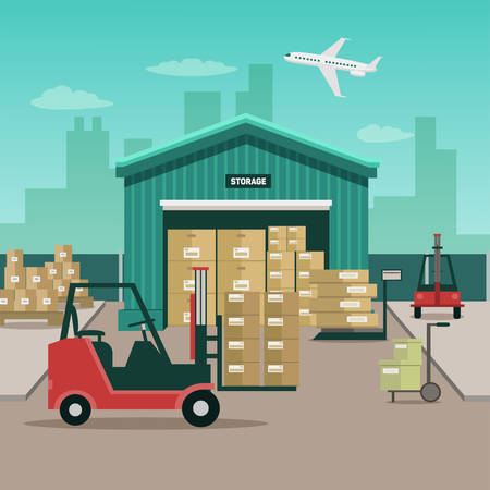Vector illustration pile de conteneurs
