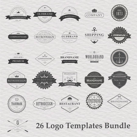 canoe paddle: Vector set of vintage camping  . Retro   collection of outdoor adventures  Illustration