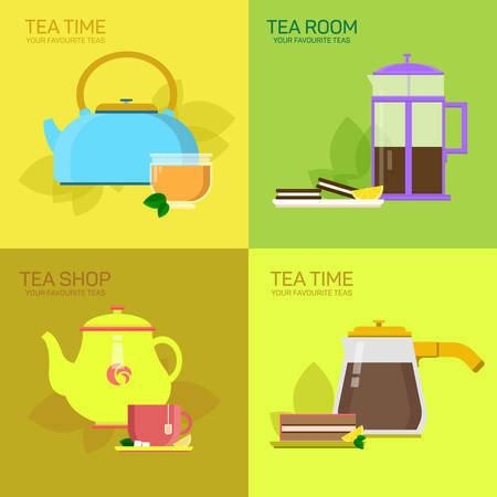 Vector for tea party, illustration