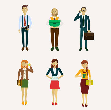 asian business group: Vector for business people, illustration