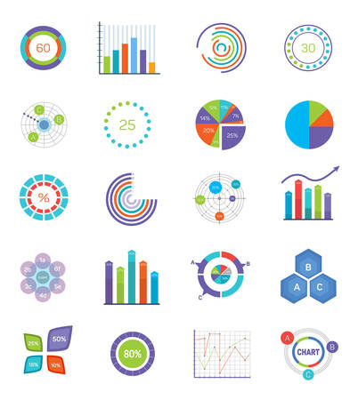 charts and graphs: Vector concept for infographics, charts, illustration