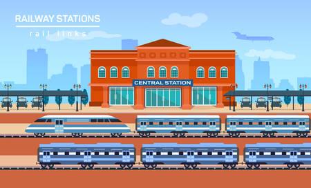 Station, vector flat achtergrond illustratie eps 10 Stockfoto - 47869962