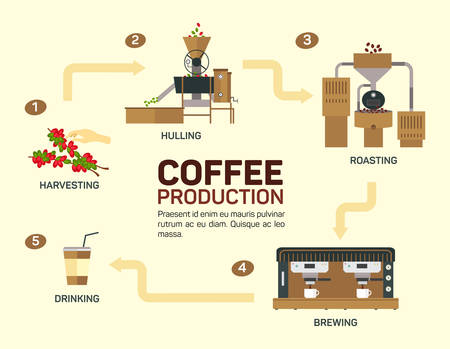 illustration of coffee. Drink graphic, cup and infographic, cappuccino and espresso, illustration, Illustration