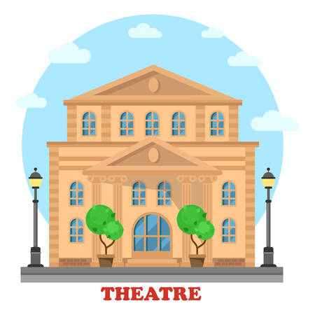 premiere: Grand theatre or theatre. Building for entertainment, structure and construction for art and play premiere, opera. Great for landmark and culture leisure, performance theme