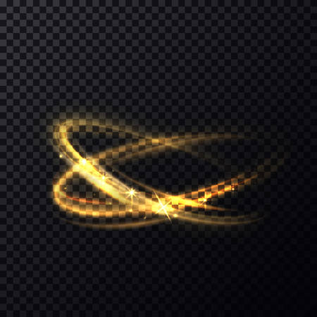 radiance: Blurry circles or ovals, fading sparkles motion. Radiance of vibrant particle making fading bright curves.Shiny fire flare flying up with bleak and bokeh,lens effect. Great for abstract or magic theme Illustration