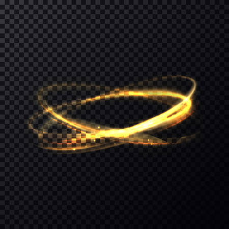 luminosity: Radiance or luminosity of crossed rings or circles. Fading flare or flash on transparent background. Bokeh effect through lens. Perfectly fit for celebration or science brochure, poster template Illustration