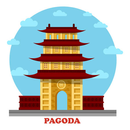 place of worship: Religious pagoda or tiered tower with eaves. Statue for buddha monk faith that used for tourism and travel visiting. Good for culture and spiritual, history and architecture outdoor view theme