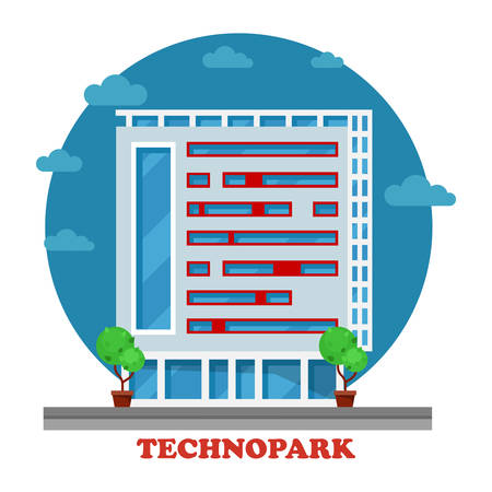 ebusiness: Technopark building in technocity for IT firm or joint venture, support facility for e-business or software development. Can be used for information or technology, electronic business theme