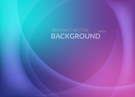 Violet and blue abstract background with smooth round lines and glowing light on top. Template for placard or flyer, leaflet or booklet, shiny brochure and colorful wallpaper, warm composition