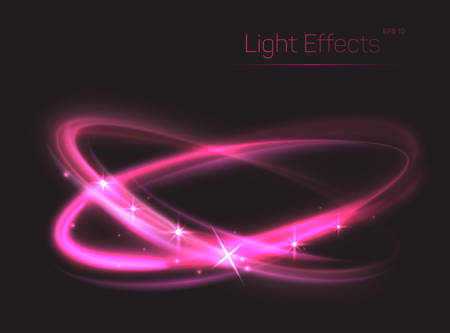 radiance: Abstract background with pink ovals or glitter red circles. Neon or plasma particle smooth movement with glow or radiance. Can be used for show or entertaining, magic theme