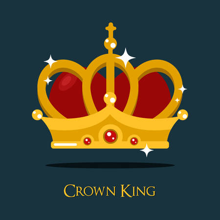 pope: Crown of king or queen, princess or pope triada vector icon. Classic majestic or monarch gold crown, heraldic prince tiara or crown sign. For imperial vintage or old victorian crown for queen or king