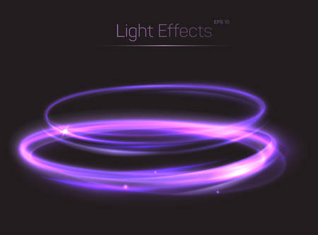 bleak: Abstract light effect on transparent background. Shining neon light glow or radiance, bokeh effect made of fast moving particle tail. May be used for light effect background for poster or brochure