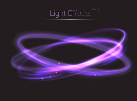 radiance: Circle or ovals light effects background. Luminosity and radiance effect made by trail or tail. Bokeh effect and light glow on transparent background. Can be used for spotlight light background Illustration
