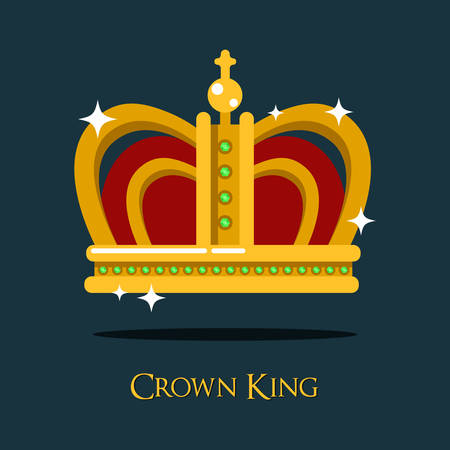 pope: Royal king or queen crown or pope tiara icon. Princess or prince gold crown of medieval. Can be used as monarch crown icon or heraldry monarchy, authority and luxury, antique design theme Illustration