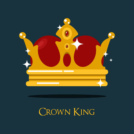 majesty: Blinking or shining pope crown or tiara. King or prince, princess or queen crown icon, royalty heraldic symbol of wealth. For old medieval or historical theme, game crown or king majesty, pope diadem