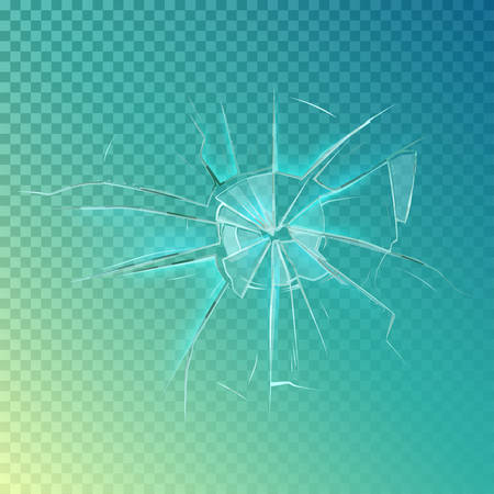 Mirror or broken glass, cracked or shattered window. Crash glass or crack on window frame, shatter mirror or breaking glass, cracked screen. May be used for accident damage, burglary or anger theme