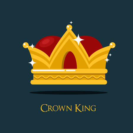 majesty: Pope or king crown or tiara. Prince or princess, queen crown icon, heraldic royalty symbol of wealth. For game award and old medieval or historical theme, game crown or king majesty, pope diadem