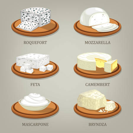 Roquefort and mozzarella, feta or camembert