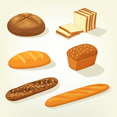 baton: Baguette and bricks of toast or butterbrot bread