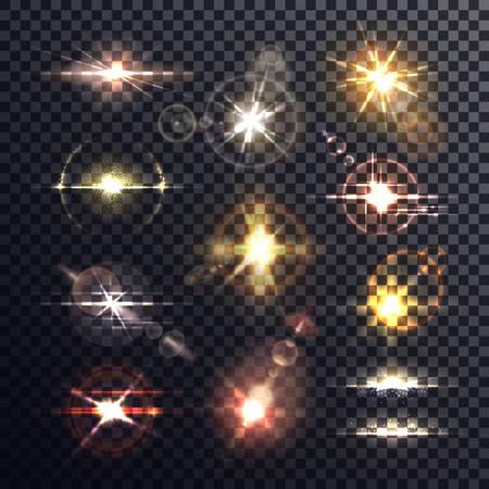 Star or sun, beam and burst light effect