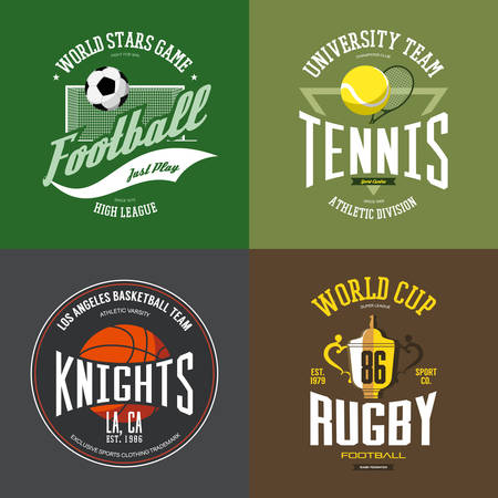 sports winner: Basketball ball and tennis racket or rack, racquet, rugby cup or trophy, bowl, soccer or football ball.
