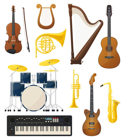 fiddlestick: Guitar and drums, violin, lyre music instruments