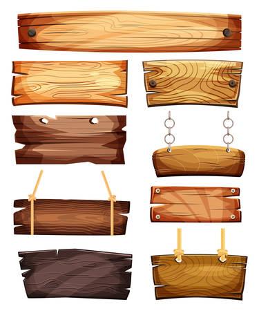 ビンテージの空または空白の木製看板