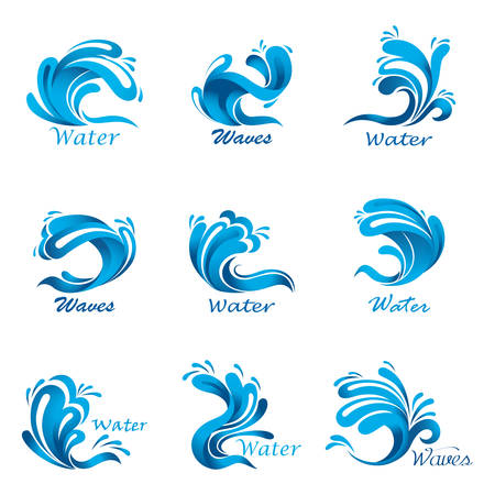 Waves splash and ocean or sea liquid