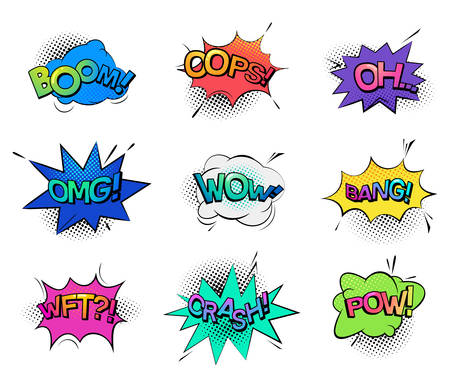 ooops: Comic bubble speeches and sounds Illustration