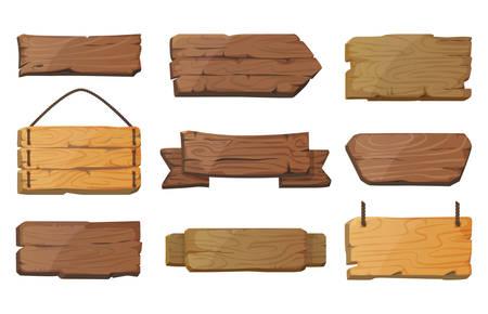 Puste lub puste west signboards lub drewna deski