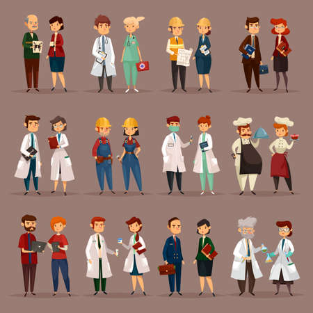 Employee and workers for medical professions Imagens