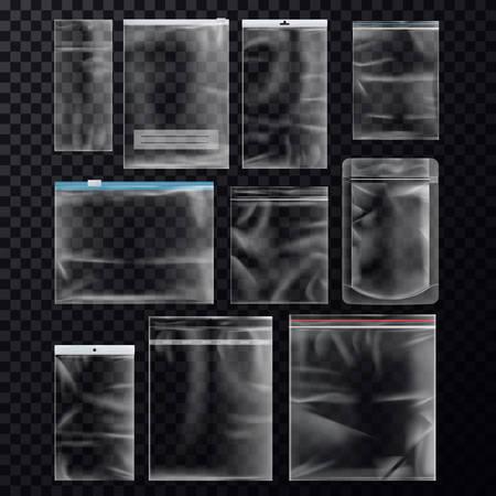Set of isolated sealed sachet or packs
