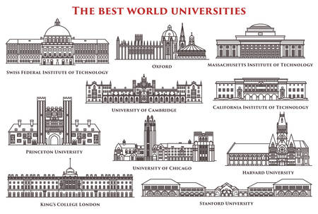 Set of isolated university and institute, college