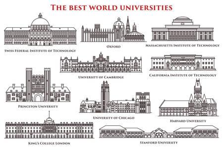 Verzameling van geïsoleerde universiteit en instituut, college