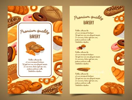 Banner with bakery food or pastry banner Illustration