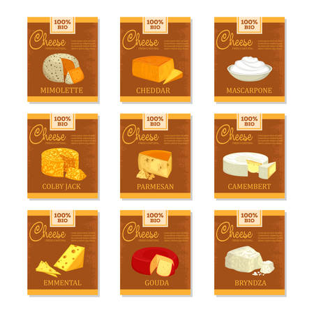 Cheese banners. Food and vegetarian nutrition
